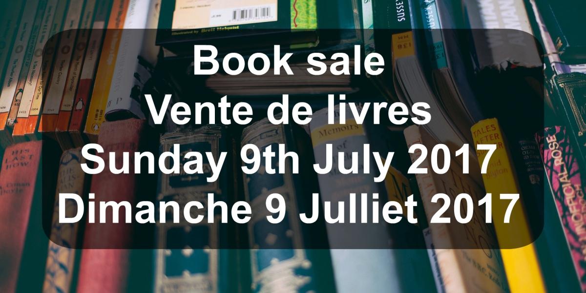Book sale July / Vente de livres Julliet2017