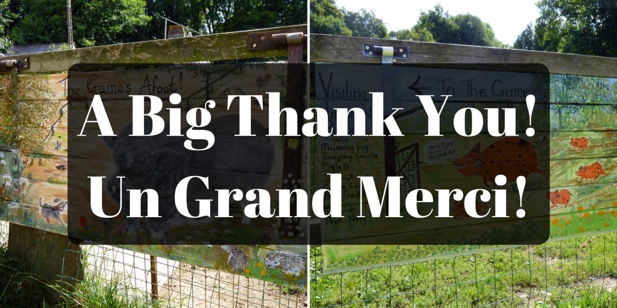 A big thank you | Un grandmerci