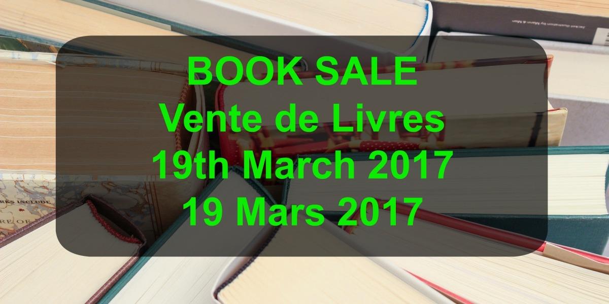 book sale March 2017